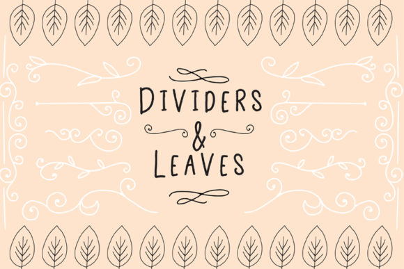 Dividers and Leaves Graphic Objects By carrtoonz - Image 1