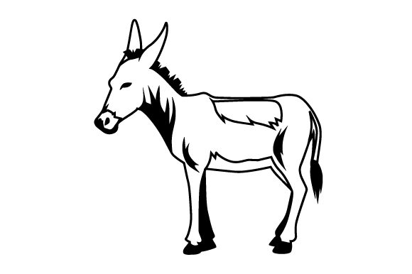 Download Free Donkey Svg Cut File By Creative Fabrica Crafts Creative Fabrica for Cricut Explore, Silhouette and other cutting machines.