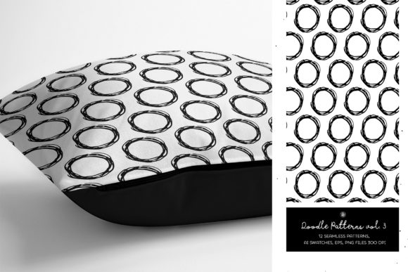 Print on Demand: Doodle Patterns Graphic Patterns By webvilla - Image 2