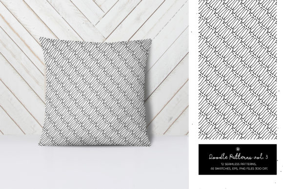 Print on Demand: Doodle Patterns Graphic Patterns By webvilla - Image 3