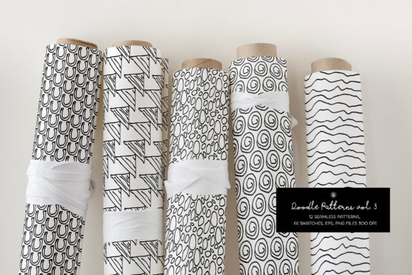 Print on Demand: Doodle Patterns Graphic Patterns By webvilla - Image 4