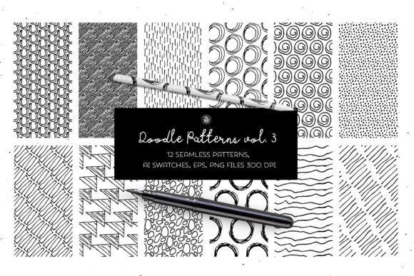 Print on Demand: Doodle Patterns Graphic Patterns By webvilla