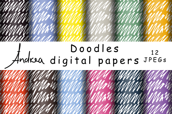 Print on Demand: Doodles Digital Papers Graphic Patterns By Andrea Kostelic