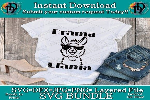 Print on Demand: Drama Llama SVG Graphic Crafts By dynamicdimensions
