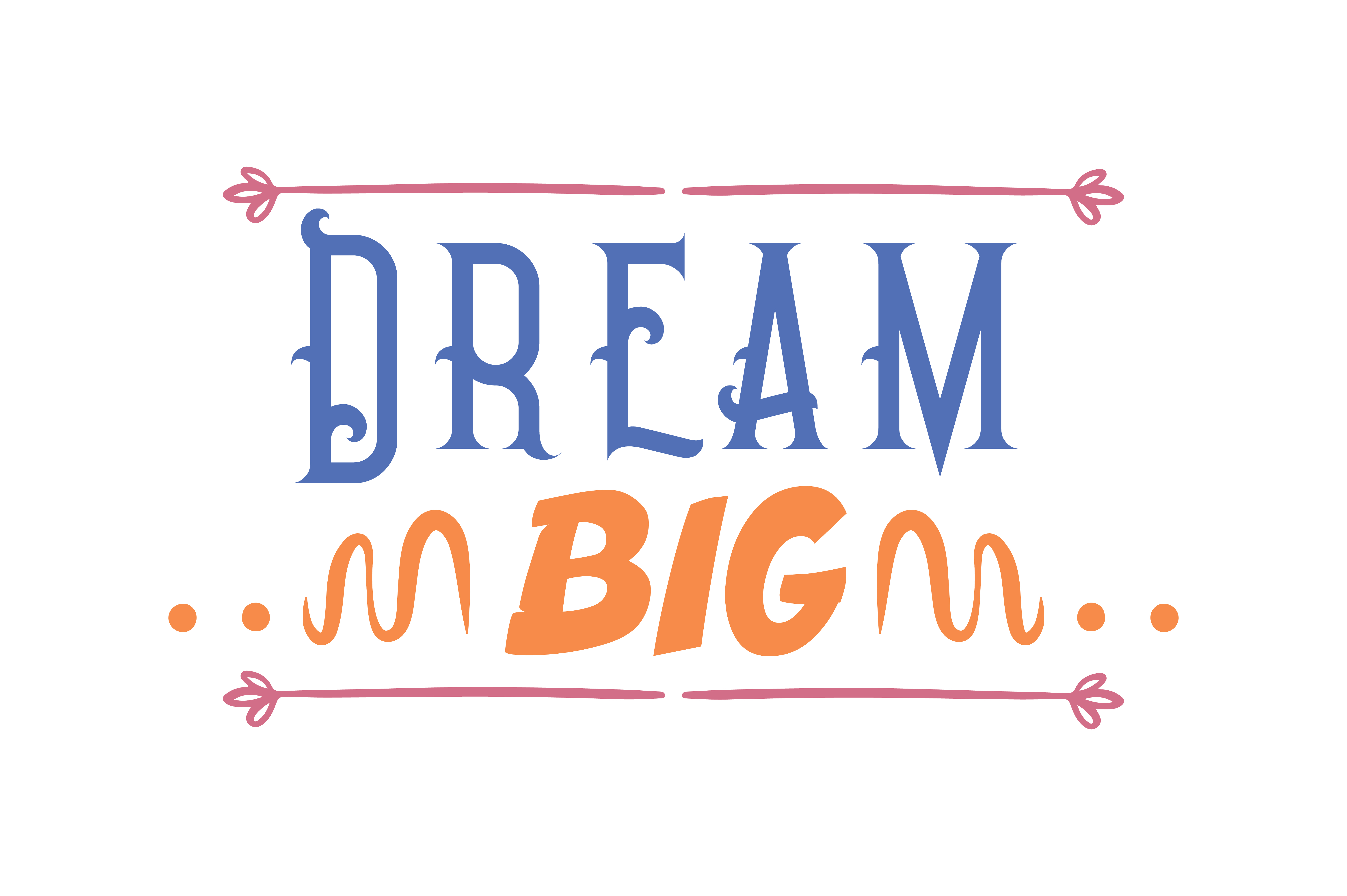 Download Free Dream Big Quote Svg Cut Graphic By Thelucky Creative Fabrica for Cricut Explore, Silhouette and other cutting machines.
