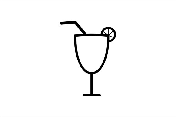 Download Free Drink Glass Icon Graphic By Leisureprojects Creative Fabrica for Cricut Explore, Silhouette and other cutting machines.