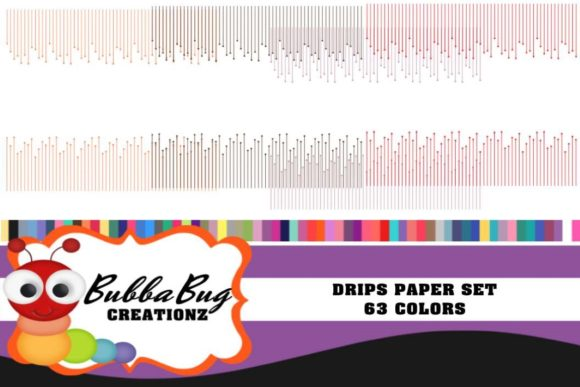 Drips Paper Set Graphic Patterns By BUBBABUG