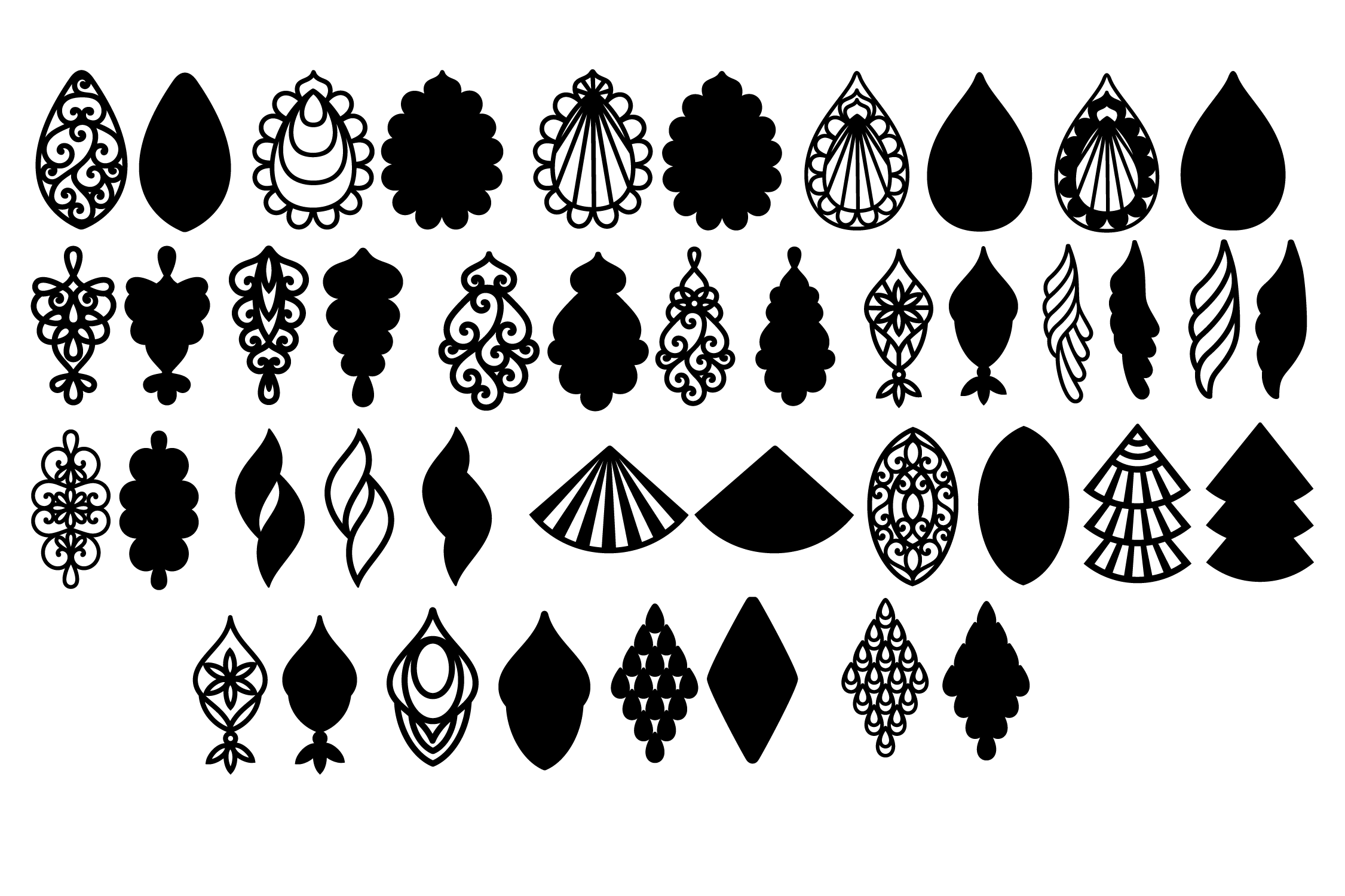 Download Free Teardrop Earrings Template Graphic By Yulnniya Creative Fabrica for Cricut Explore, Silhouette and other cutting machines.