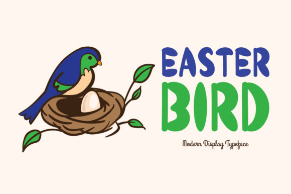 Print on Demand: Easter Bird Display Font By Instagram Fonts