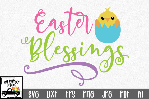Download Free Easter Blessings Svg Graphic By Oldmarketdesigns Creative Fabrica for Cricut Explore, Silhouette and other cutting machines.