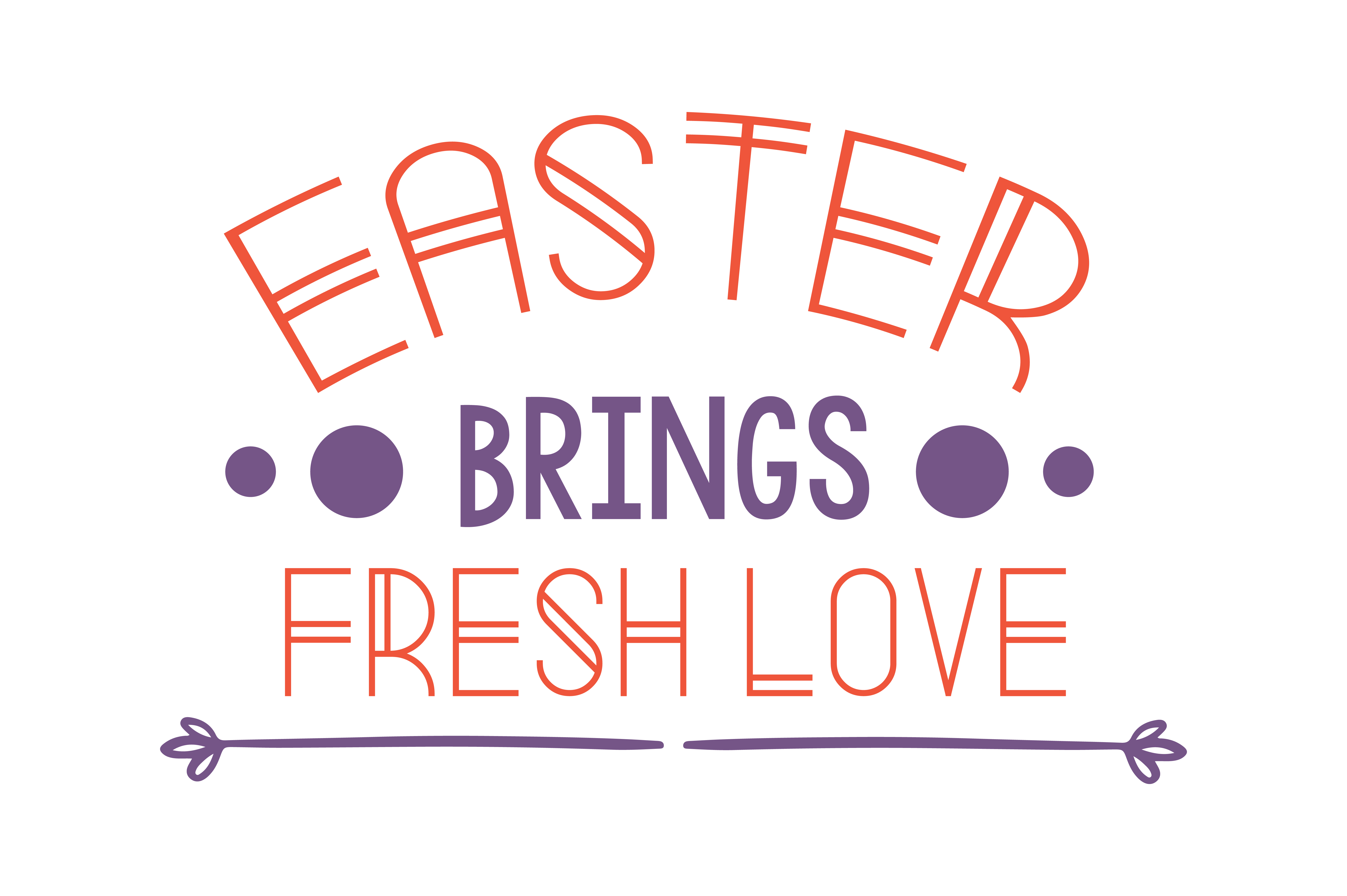 Download Free Easter Brings Fresh Love Quote Svg Cut Graphic By Thelucky for Cricut Explore, Silhouette and other cutting machines.