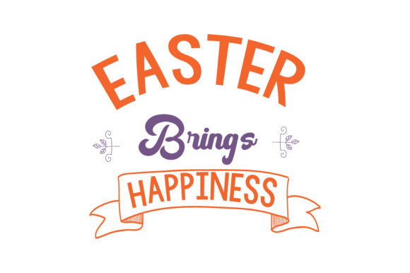 Print on Demand: Easter Brings Happiness Quote SVG Cut Graphic Crafts By TheLucky