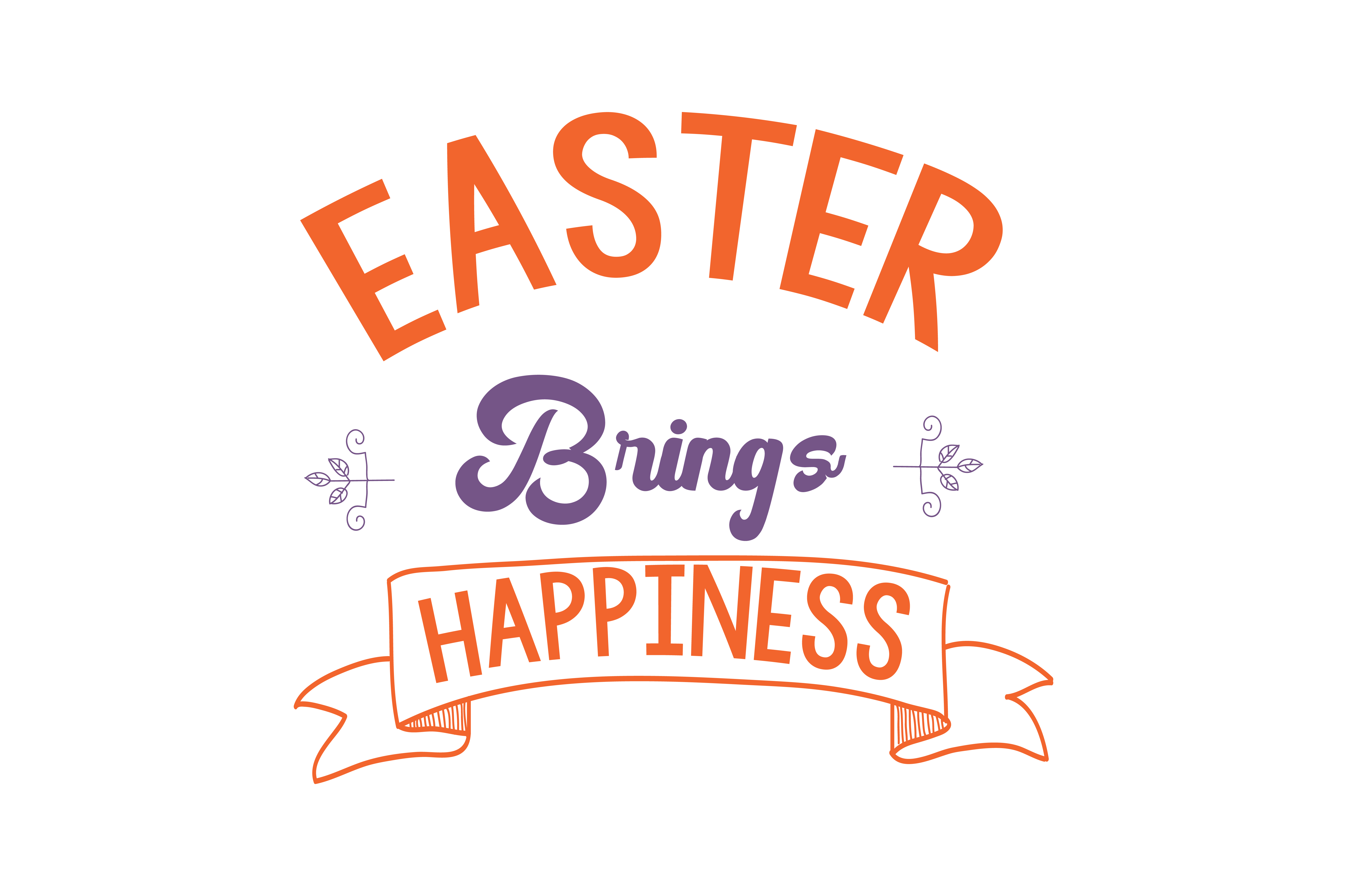 Download Free Easter Brings Happiness Quote Svg Cut Graphic By Thelucky for Cricut Explore, Silhouette and other cutting machines.