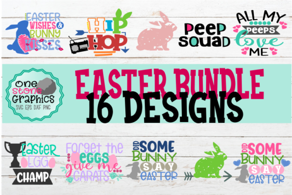 Easter Bundle Svg Graphic Crafts By OneStoneGraphics