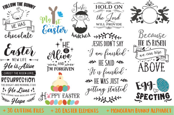Easter Bundle Graphic By Nerd Mama Cut Files Creative Fabrica