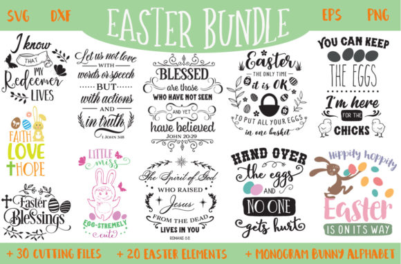 Download Free Easter Bundle Graphic By Nerd Mama Cut Files Creative Fabrica for Cricut Explore, Silhouette and other cutting machines.