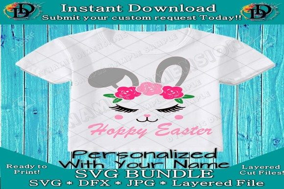 Print on Demand: Easter Bunny SVG Graphic Crafts By dynamicdimensions