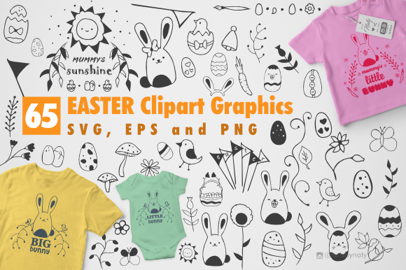 Print on Demand: Easter Clipart Bundle Graphic Illustrations By artsbynaty