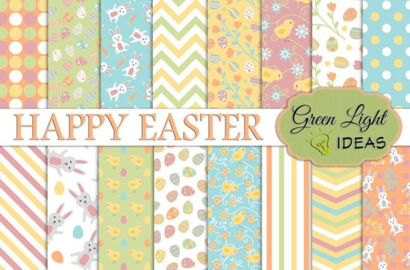 Easter Digital Papers Graphic Backgrounds By GreenLightIdeas