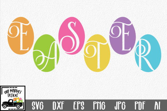 Download Free Easter Easter Eggs Svg Graphic By Oldmarketdesigns Creative for Cricut Explore, Silhouette and other cutting machines.