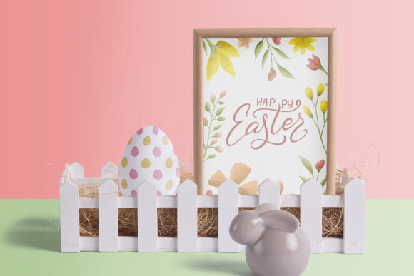 Easter Egg-Graphic Clipart and Lettering Graphic By tregubova.jul Image 2