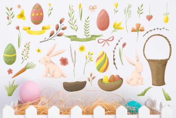Easter Egg-Graphic Clipart and Lettering Graphic By tregubova.jul Image 4
