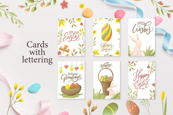 Download Free Easter Egg Graphic Clipart And Lettering Graphic By Tregubova for Cricut Explore, Silhouette and other cutting machines.