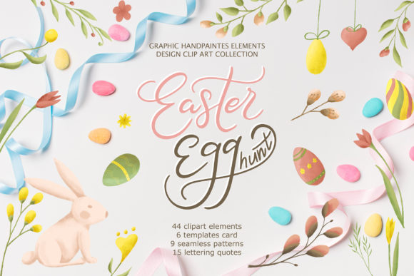 Easter Egg-Graphic Clipart and Lettering Graphic Illustrations By tregubova.jul