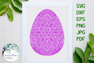 Easter Egg Mandala Zentangle Svg Graphic By Wispywillowdesigns
