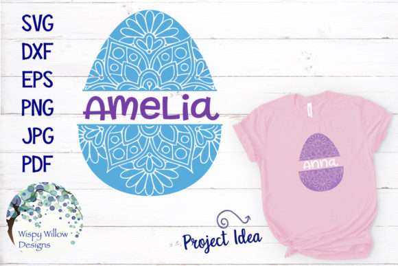 Download Free Easter Egg Mandala Zentangle Svg Graphic By Wispywillowdesigns for Cricut Explore, Silhouette and other cutting machines.