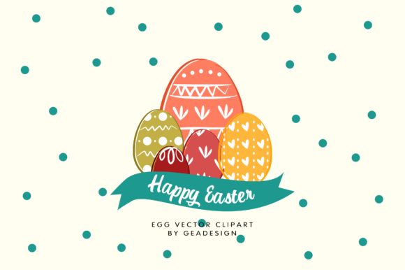 Download Free Easter Egg Vector Clipart Grafico Por Geadesign Creative Fabrica for Cricut Explore, Silhouette and other cutting machines.