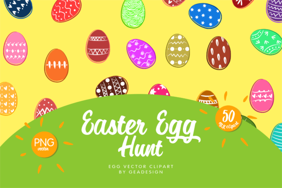 Download Free Easter Egg Vector Clipart Graphic By Geadesign Creative Fabrica for Cricut Explore, Silhouette and other cutting machines.