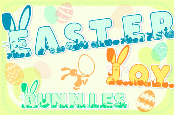 Print on Demand: Easter Joy Bunnies Display Font By Anastasia Feya