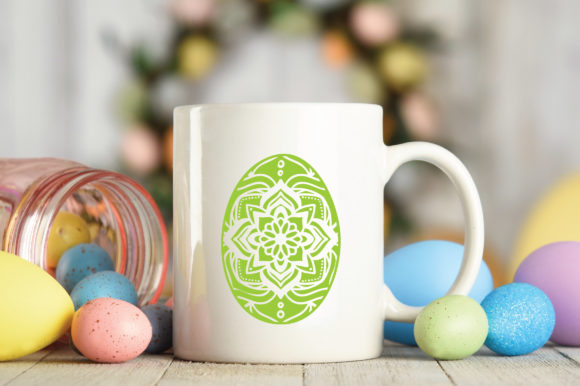 Easter - Mandala Easter Eggs SVG Graphic Crafts By oldmarketdesigns - Image 4