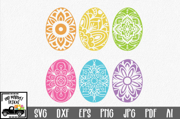 Download Free Easter Mandala Easter Eggs Svg Graphic By Oldmarketdesigns SVG Cut Files