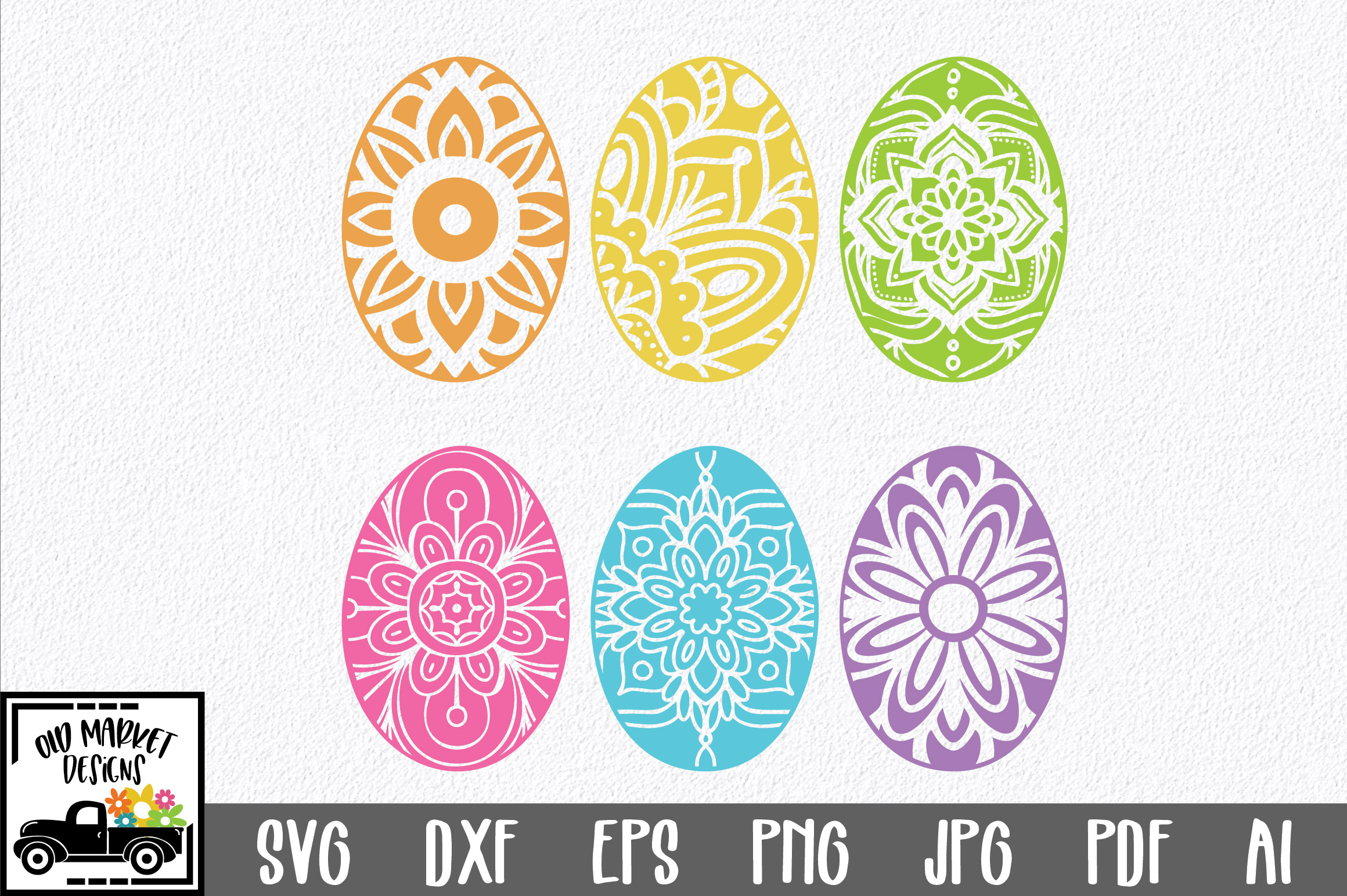 Download Free Easter Mandala Easter Eggs Svg Graphic By Oldmarketdesigns for Cricut Explore, Silhouette and other cutting machines.