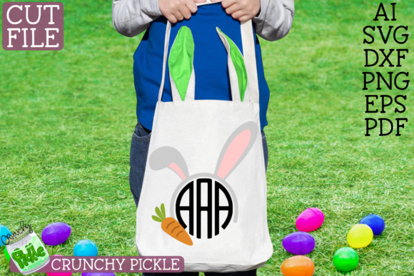 Download Free Easter Monograms Mini 4 Piece Graphic By Crunchy Pickle for Cricut Explore, Silhouette and other cutting machines.