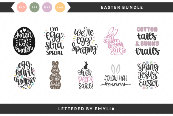 Easter Bundle Graphic Crafts By Lettered by Emylia