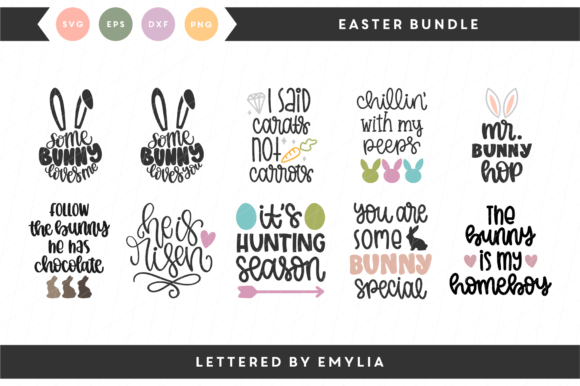 Easter SVG Bundle Graphic By Lettered by Emylia