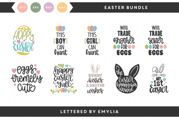Easter SVG Bundle Graphic By Lettered by Emylia Image 1