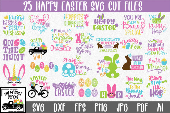 Print on Demand: Easter Bundle Graphic Crafts By oldmarketdesigns