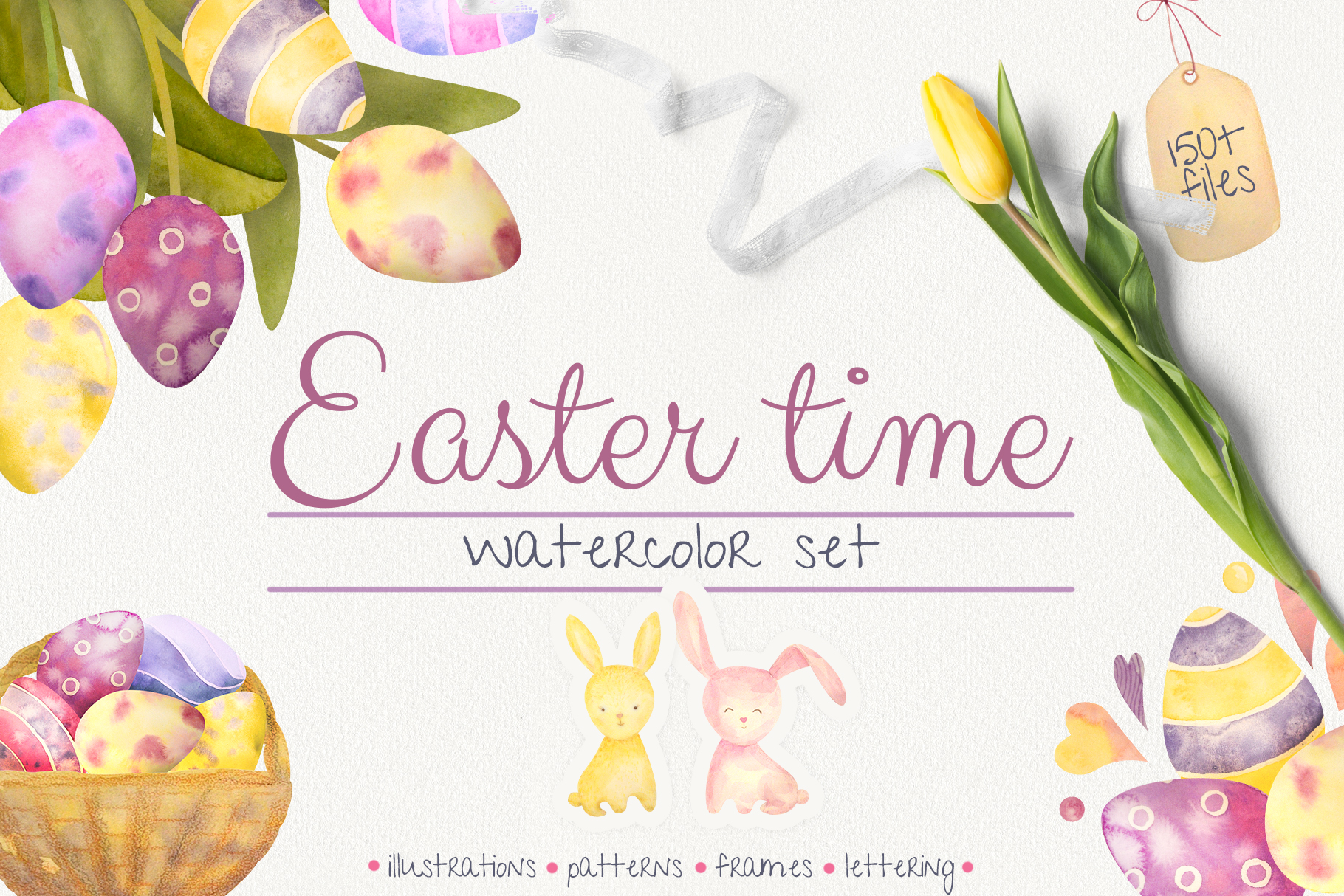 Download Free Huge Easter Time Pack Graphic By Natalia Arkusha Creative Fabrica for Cricut Explore, Silhouette and other cutting machines.