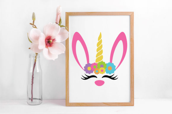 Easter - Unicorn Bunny SVG Graphic Crafts By oldmarketdesigns - Image 5