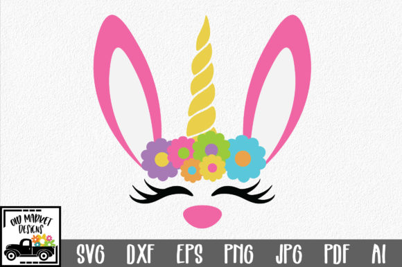 Download Free Easter Unicorn Bunny Svg Graphic By Oldmarketdesigns for Cricut Explore, Silhouette and other cutting machines.