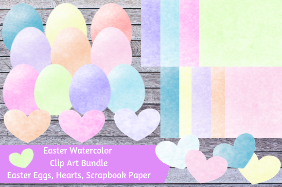 Print on Demand: Easter Watercolor Clip Art Bundle Graphic Illustrations By jpjournalsandbooks