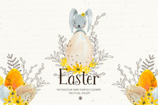 Easter - Watercolor Set Graphic By webvilla