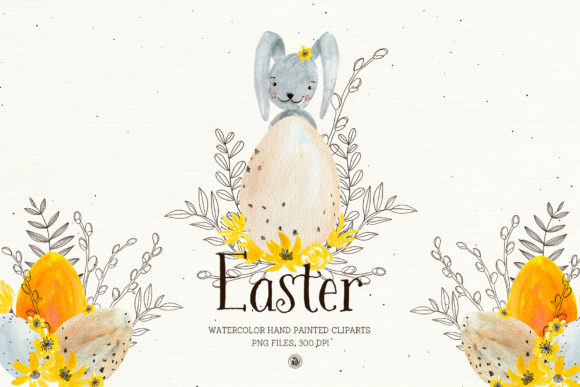 Easter - Watercolor Set Graphic Illustrations By webvilla