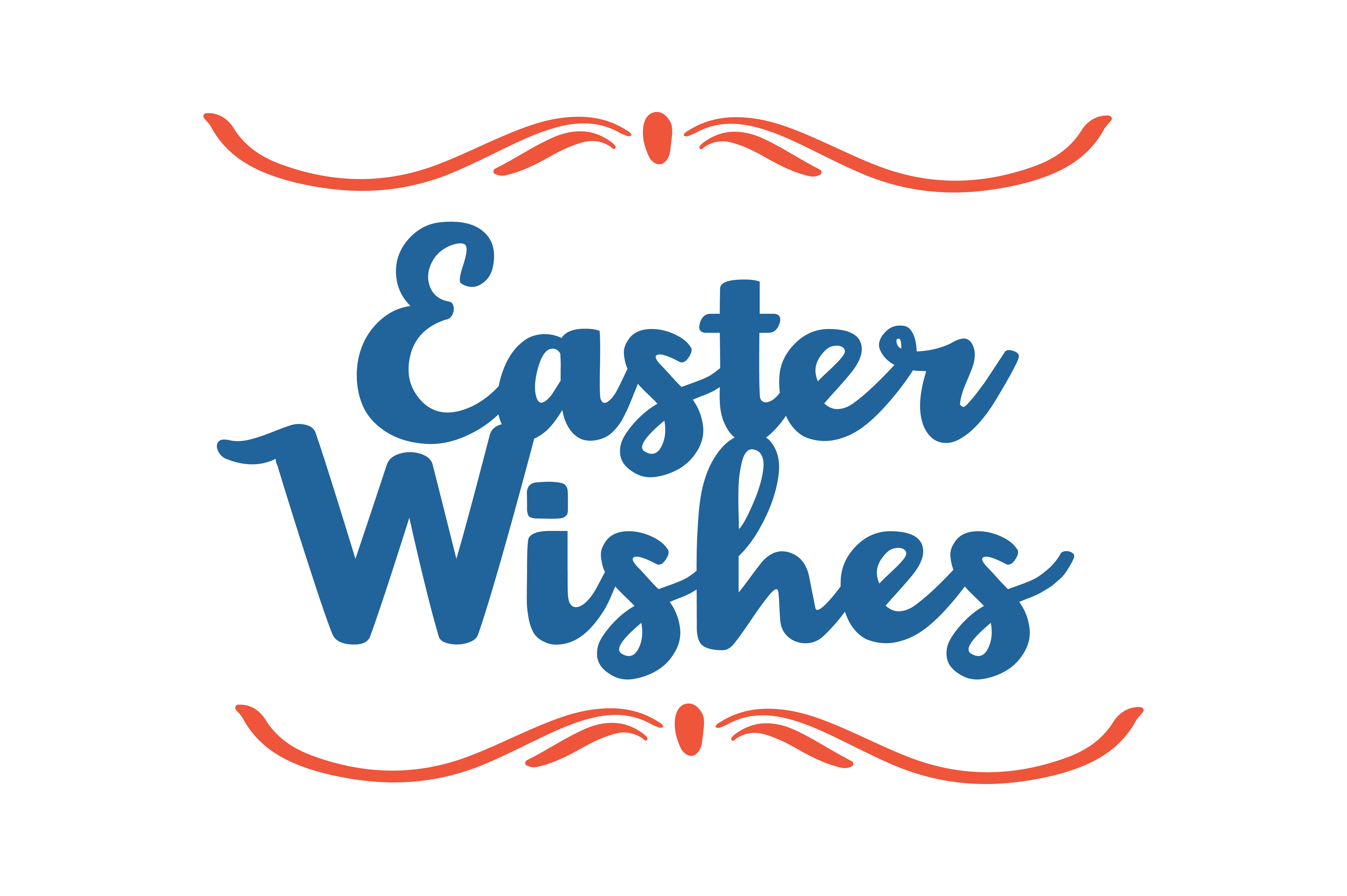 Download Free Easter Wishes Quote Svg Cut Graphic By Thelucky Creative Fabrica for Cricut Explore, Silhouette and other cutting machines.