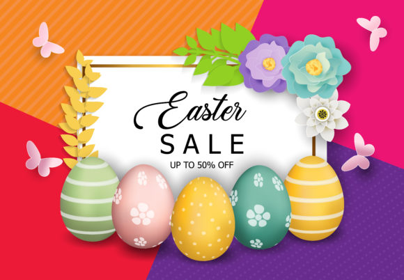 Easter Sale Background Graphic By SugarV_Creative