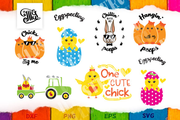 Download Free Easter Bundle Religious Chick And Bunny Graphic By Illustrator for Cricut Explore, Silhouette and other cutting machines.